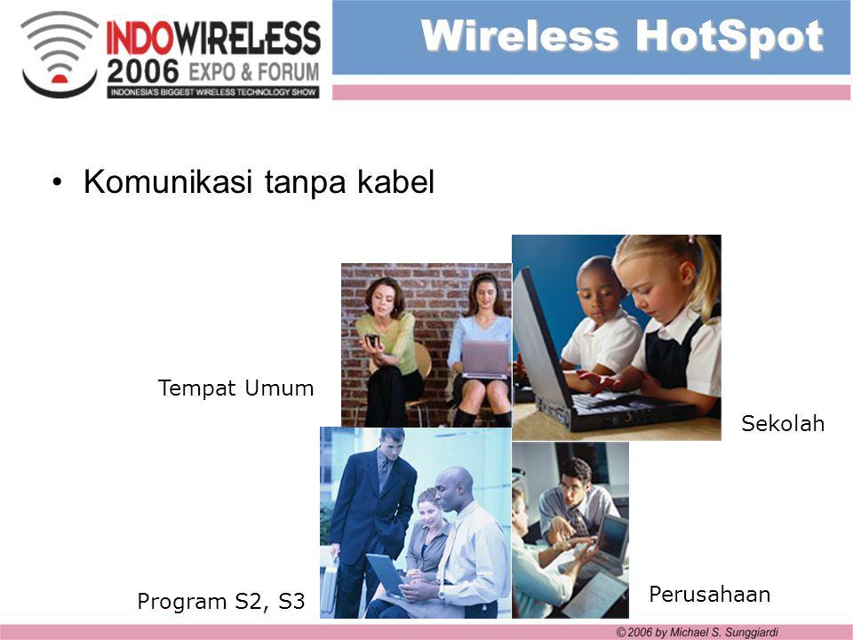 Wireless HotSpot Komunikasi tanpa kabel Tempat Umum Sekolah Perusahaan