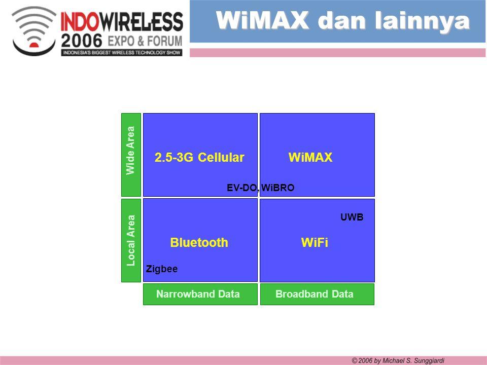 WiMAX dan lainnya 2.5-3G Cellular WiMAX Bluetooth WiFi Wide Area