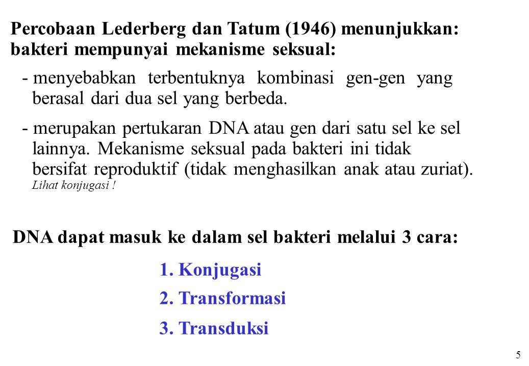 Percobaan Lederberg dan Tatum (1946) menunjukkan: