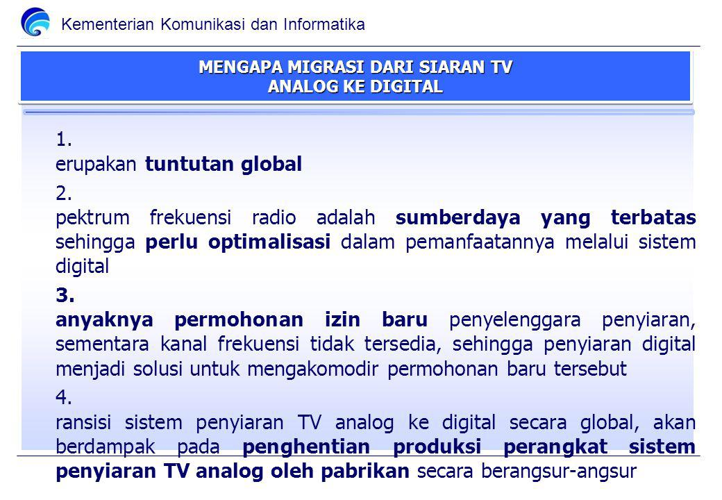 MENGAPA MIGRASI DARI SIARAN TV ANALOG KE DIGITAL