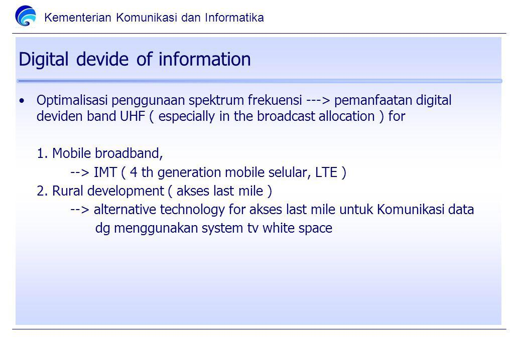 Digital devide of information