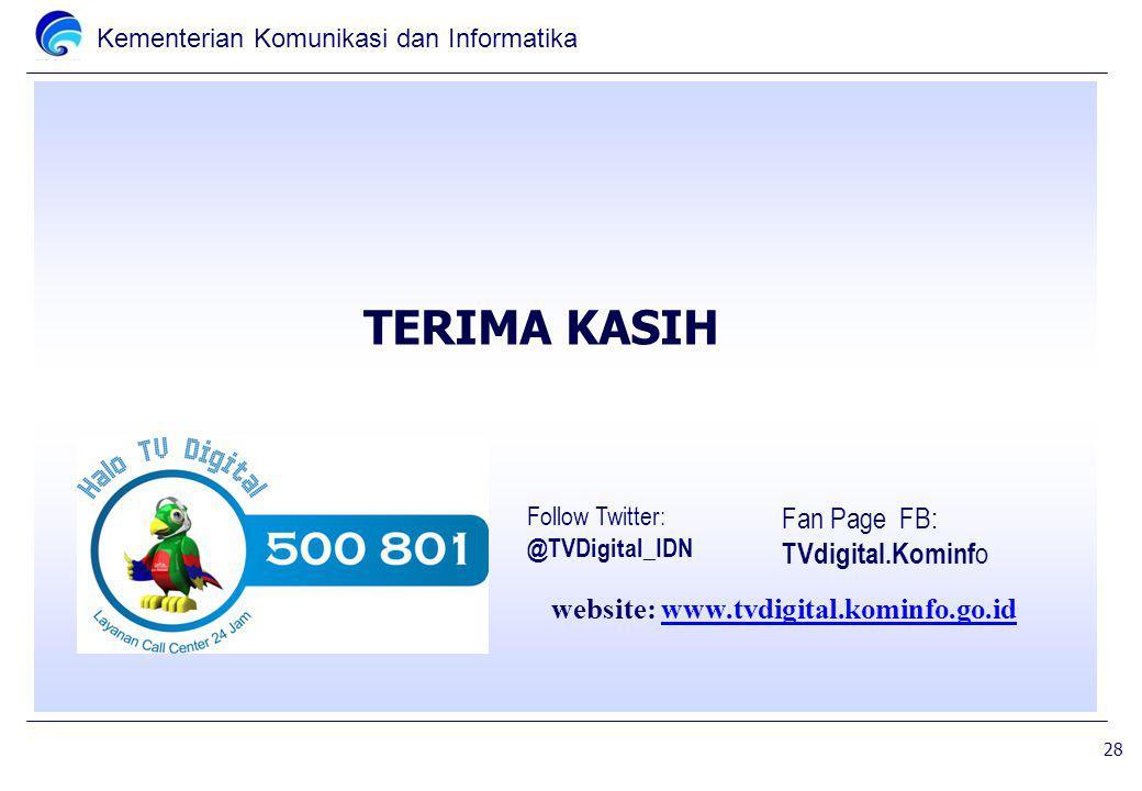 TERIMA KASIH Fan Page FB: TVdigital.Kominfo