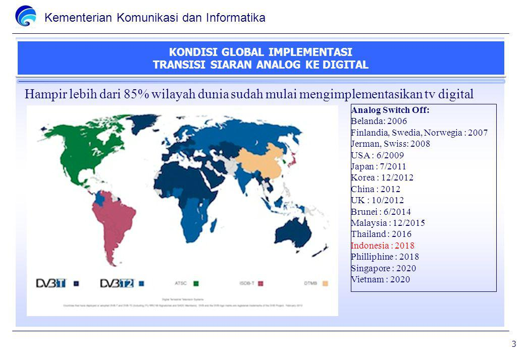 KONDISI GLOBAL IMPLEMENTASI TRANSISI SIARAN ANALOG KE DIGITAL