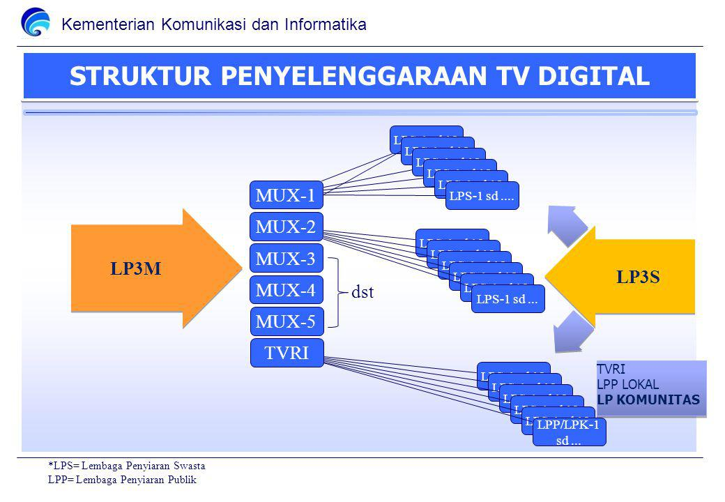 STRUKTUR PENYELENGGARAAN TV DIGITAL