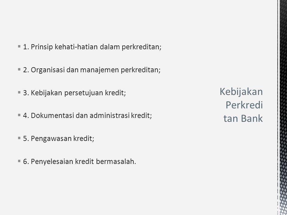 Kebijakan Perkreditan Bank