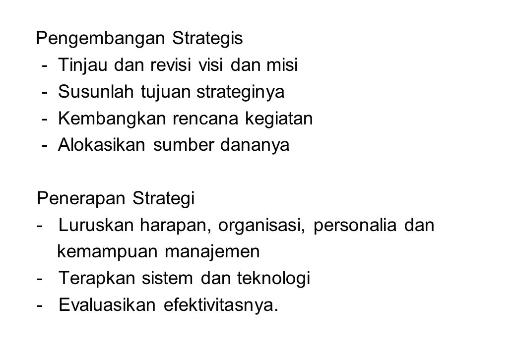 Pengembangan Strategis