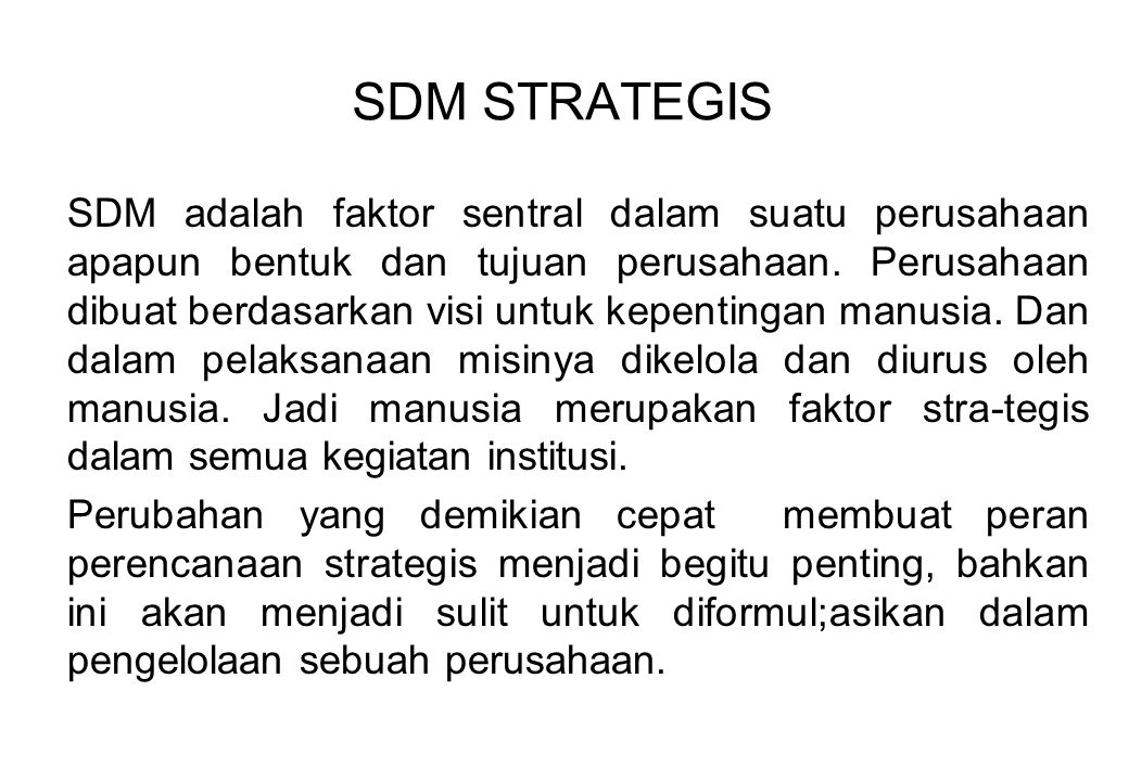 SDM STRATEGIS