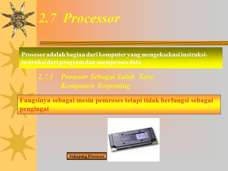 2.7 Processor 2.7.1 Prosesor Sebagai Salah Satu Komponen Terpenting