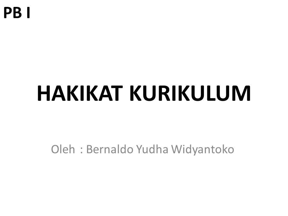 Oleh : Bernaldo Yudha Widyantoko