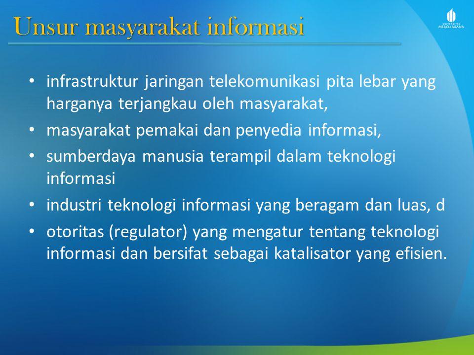 Unsur masyarakat informasi