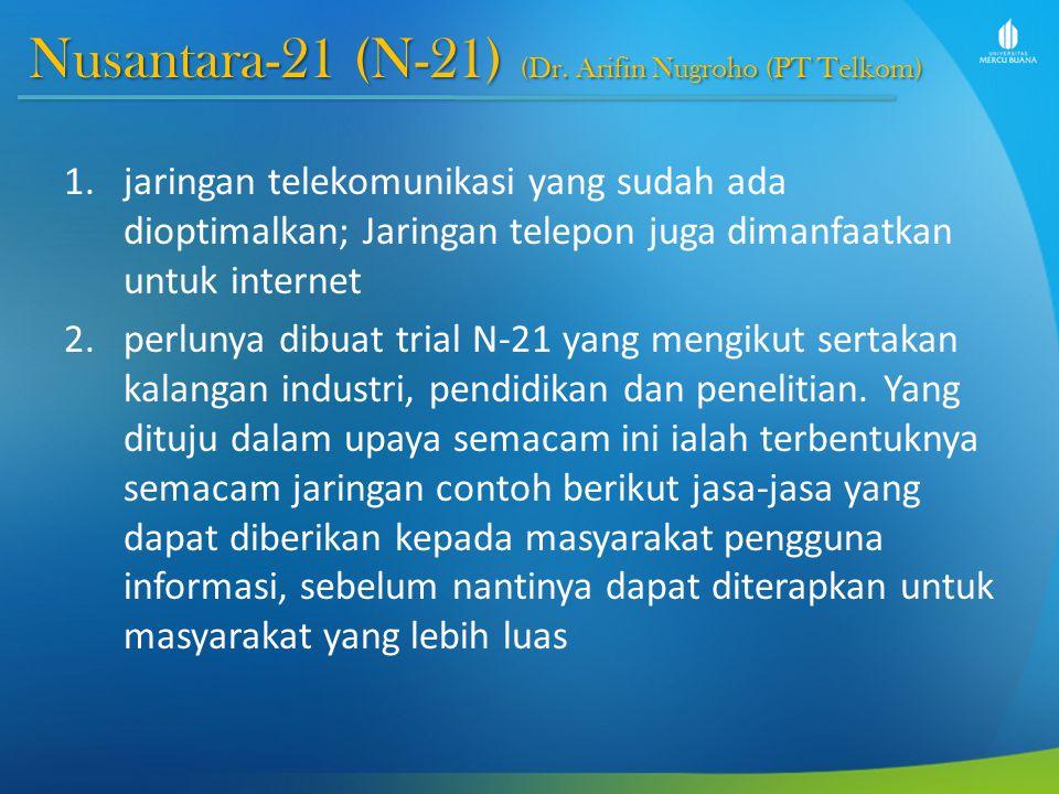Nusantara-21 (N-21) (Dr. Arifin Nugroho (PT Telkom)