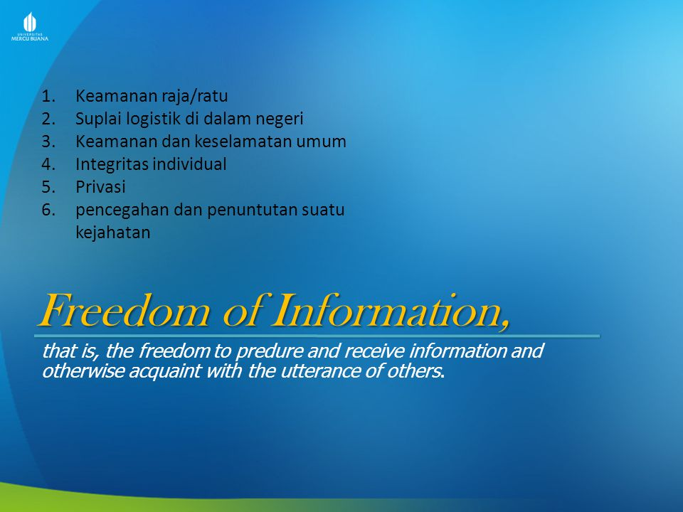 Freedom of Information,