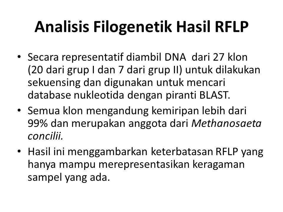 Analisis Filogenetik Hasil RFLP