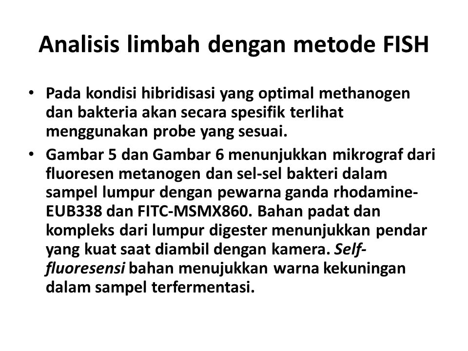 Analisis limbah dengan metode FISH