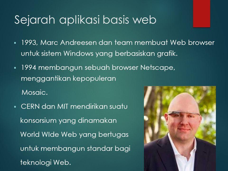 Sejarah aplikasi basis web