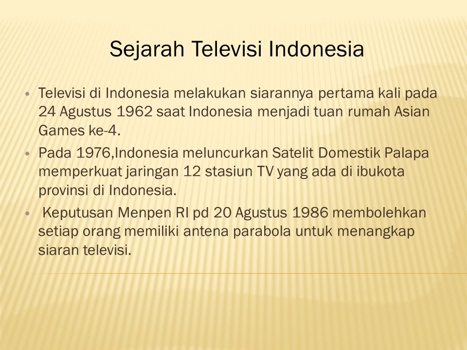Sejarah Televisi Indonesia