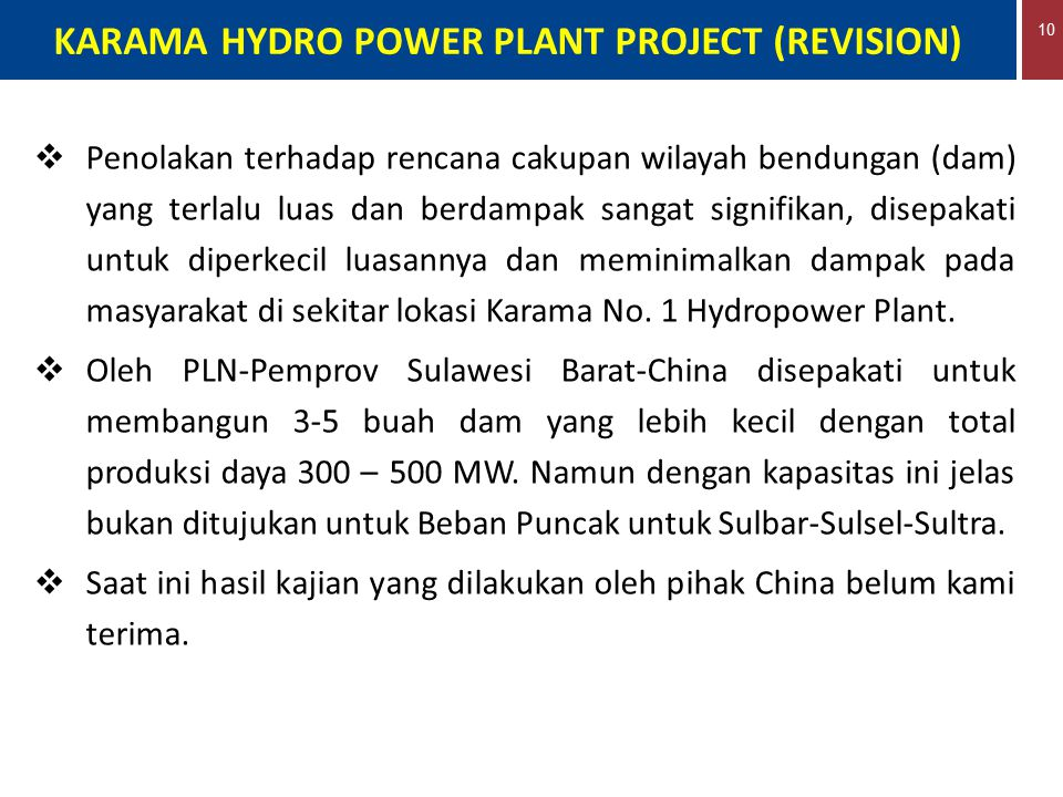 KARAMA HYDRO POWER PLANT PROJECT (REVISION)