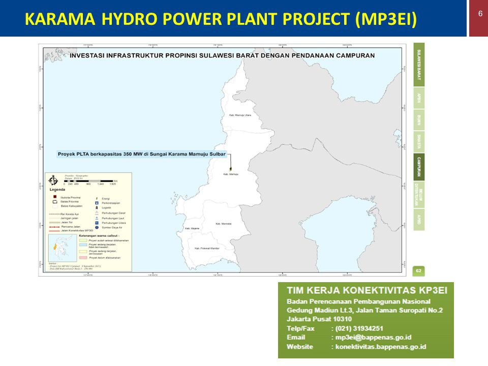 KARAMA HYDRO POWER PLANT PROJECT (MP3EI)