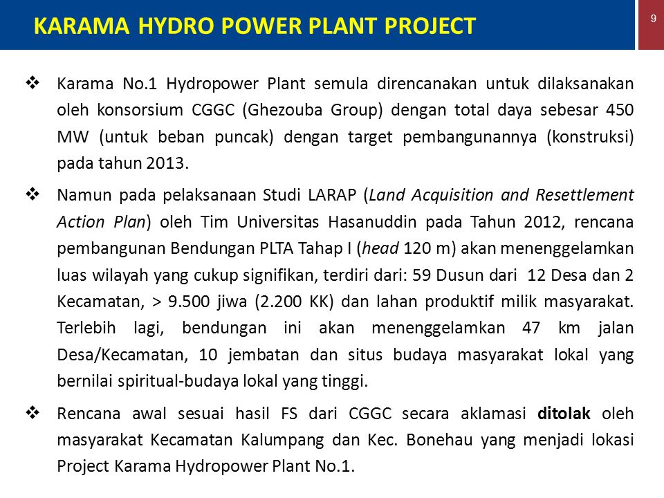 KARAMA HYDRO POWER PLANT PROJECT