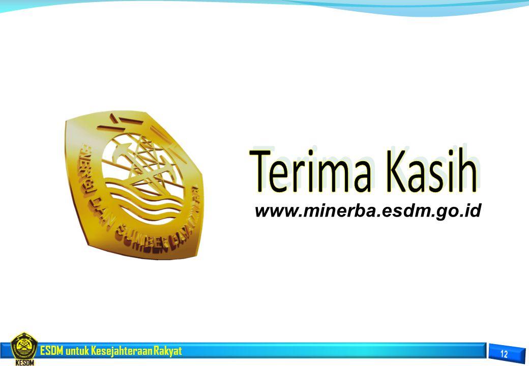 www.minerba.esdm.go.id Terima Kasih