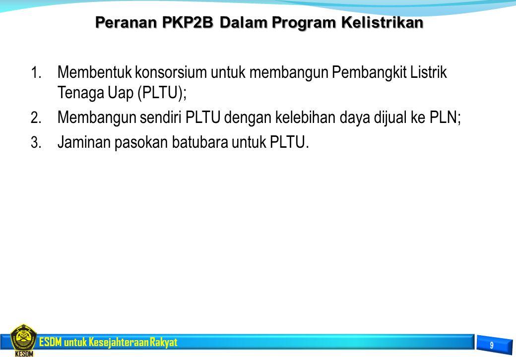 Peranan PKP2B Dalam Program Kelistrikan