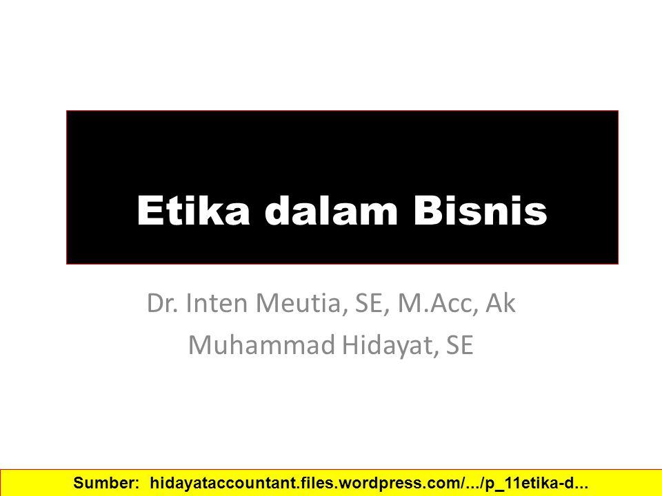 Dr. Inten Meutia, SE, M.Acc, Ak Muhammad Hidayat, SE
