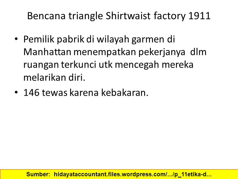 Bencana triangle Shirtwaist factory 1911