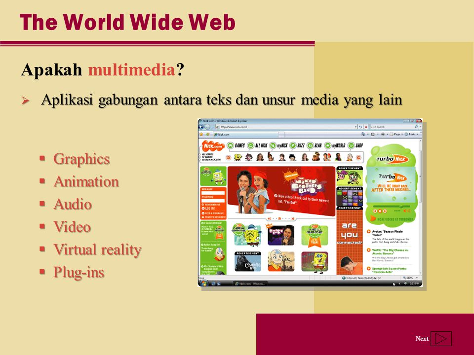 The World Wide Web Apakah multimedia
