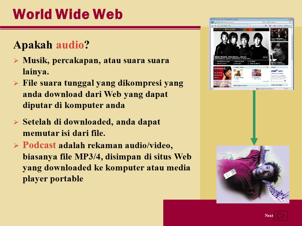 World Wide Web Apakah audio