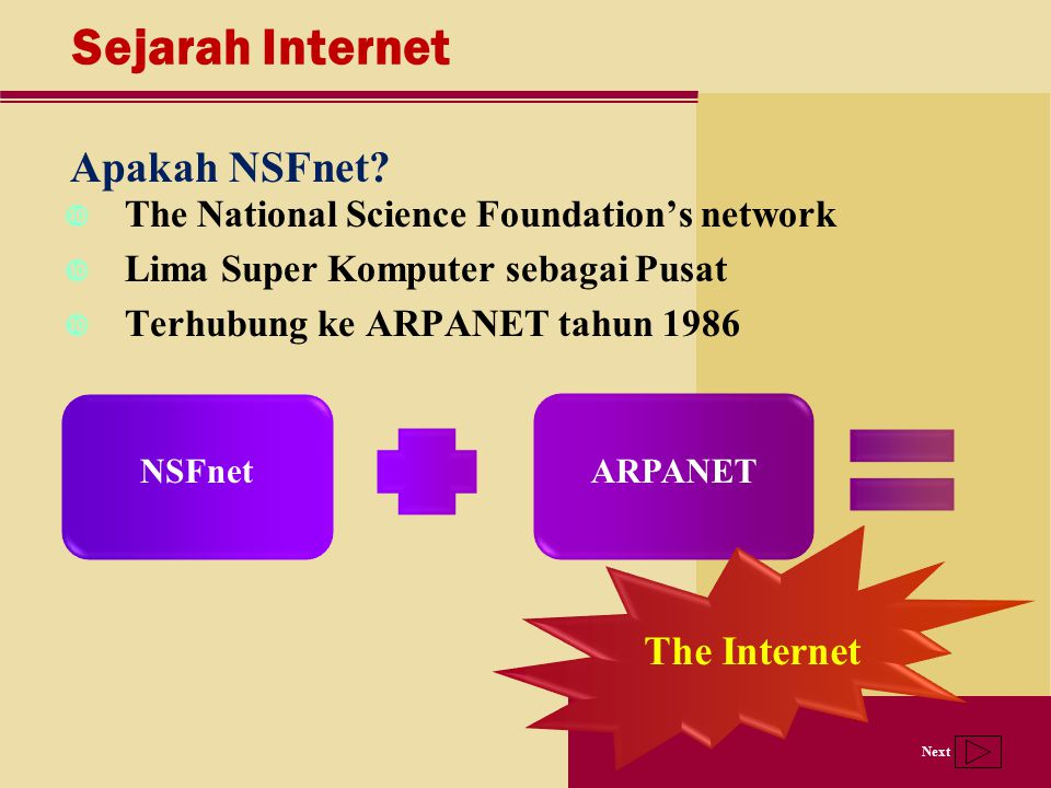 Sejarah Internet Apakah NSFnet The Internet