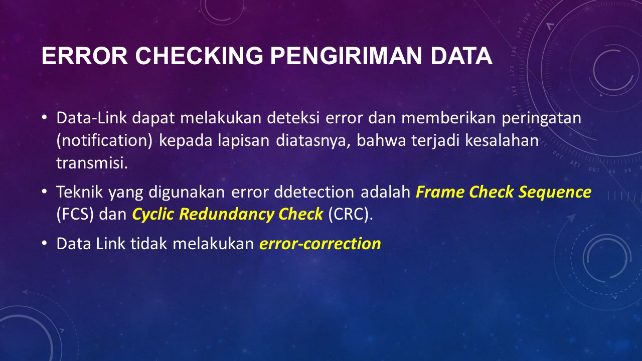 Error Checking Pengiriman Data
