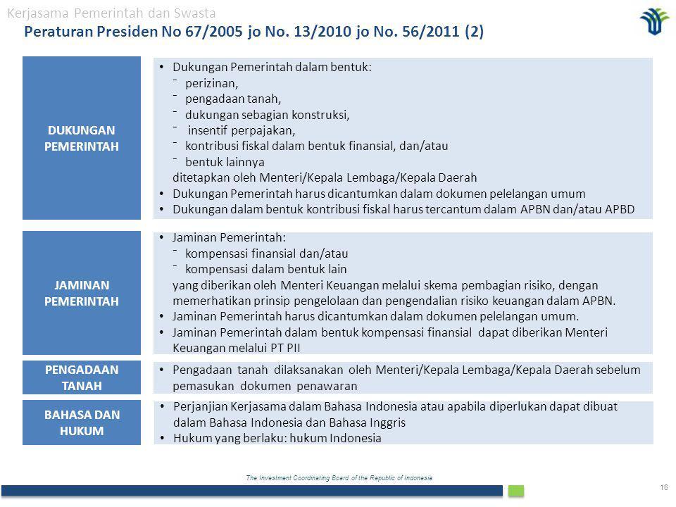 Peraturan Presiden No 67/2005 jo No. 13/2010 jo No. 56/2011 (2)