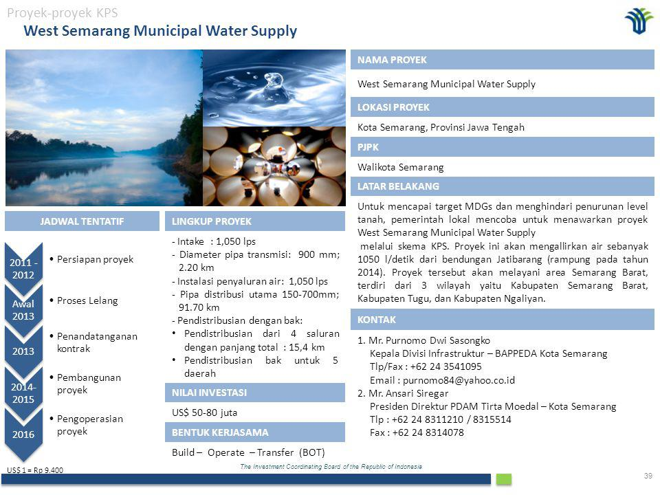 West Semarang Municipal Water Supply