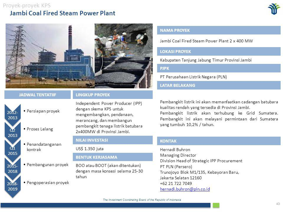 Jambi Coal Fired Steam Power Plant