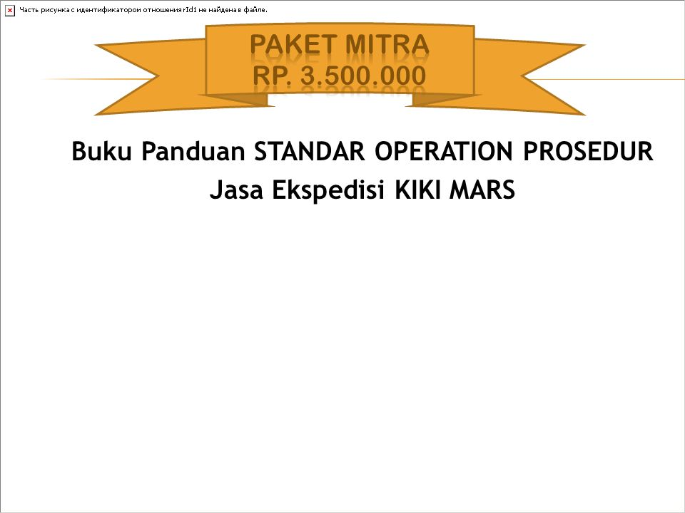 Buku Panduan STANDAR OPERATION PROSEDUR Jasa Ekspedisi KIKI MARS