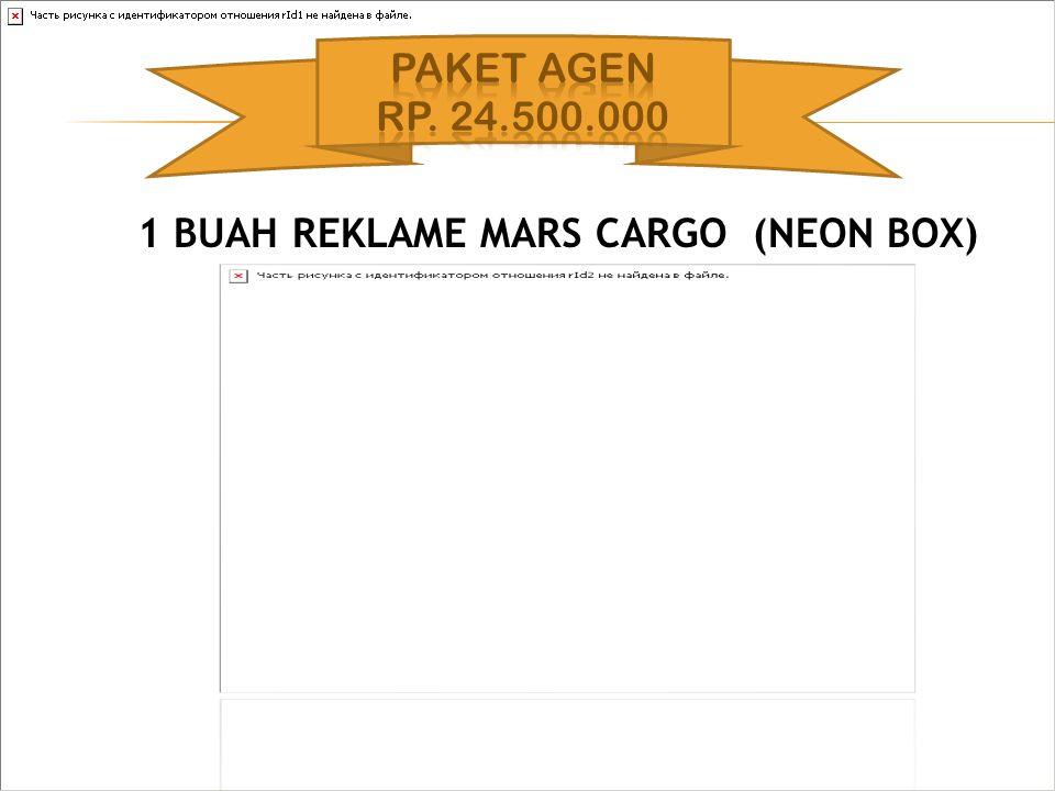 1 BUAH REKLAME MARS CARGO (NEON BOX)