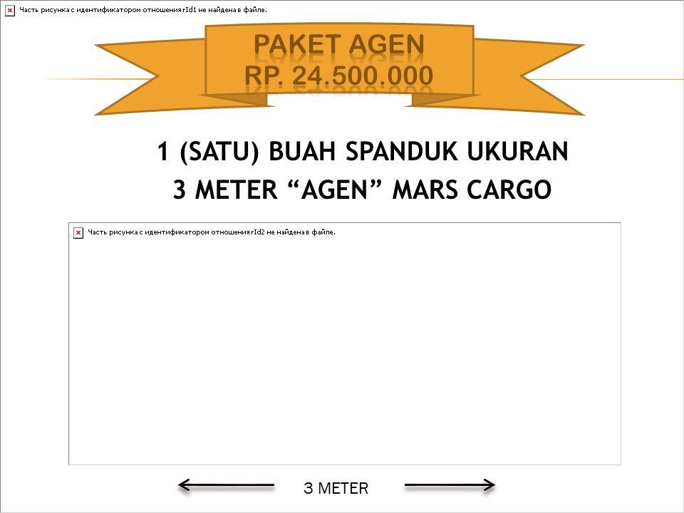 1 (SATU) BUAH SPANDUK UKURAN 3 METER AGEN MARS CARGO