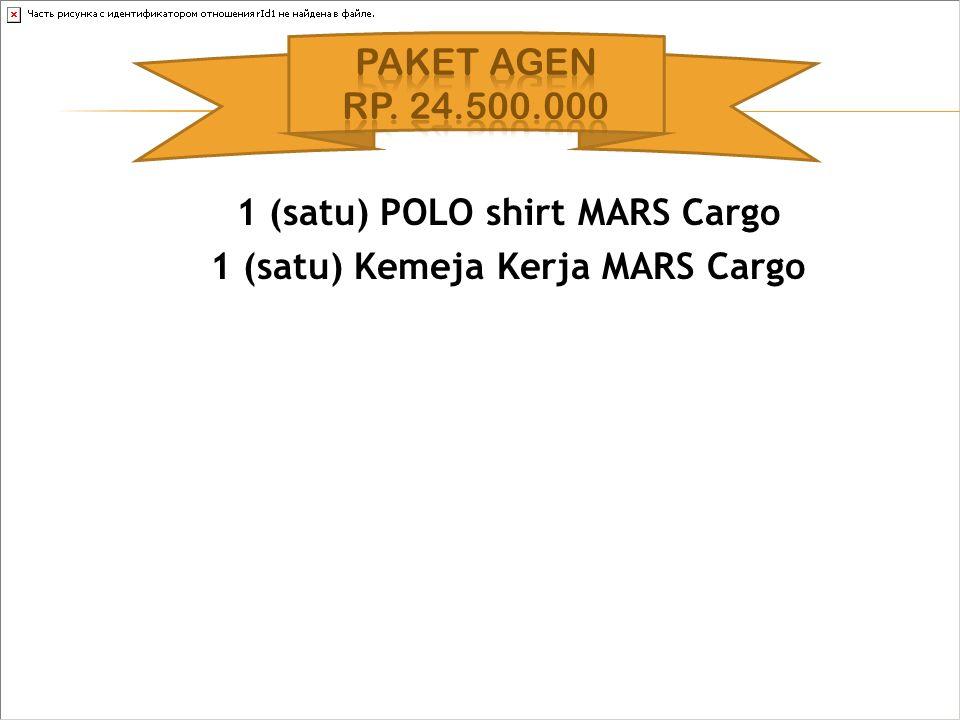 1 (satu) POLO shirt MARS Cargo 1 (satu) Kemeja Kerja MARS Cargo