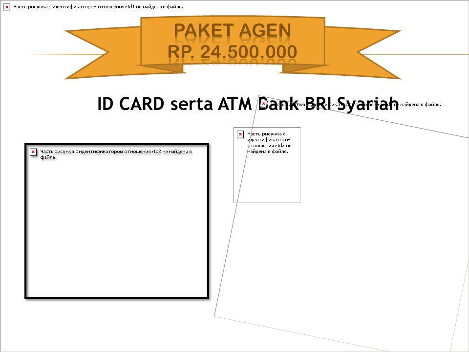 ID CARD serta ATM Bank BRI Syariah