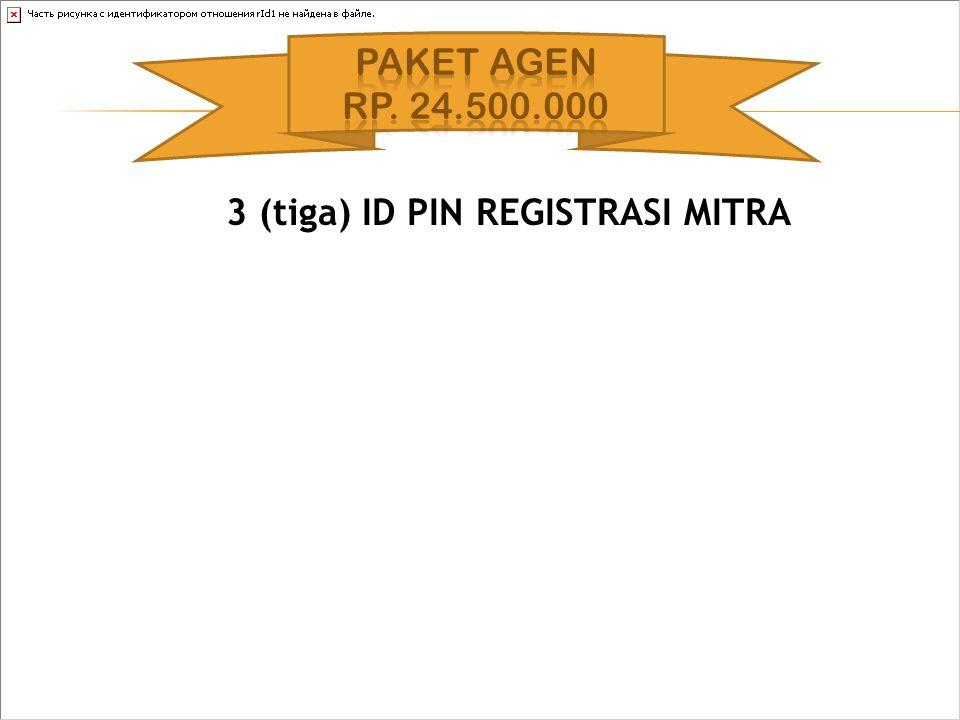 3 (tiga) ID PIN REGISTRASI MITRA