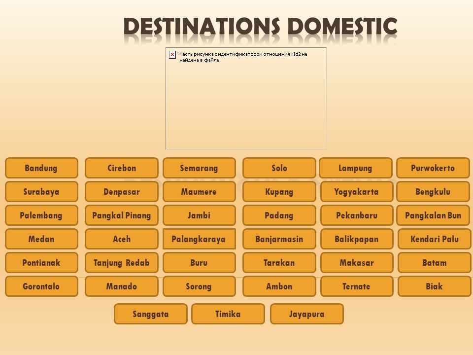 DESTINATIONS DOMESTIC