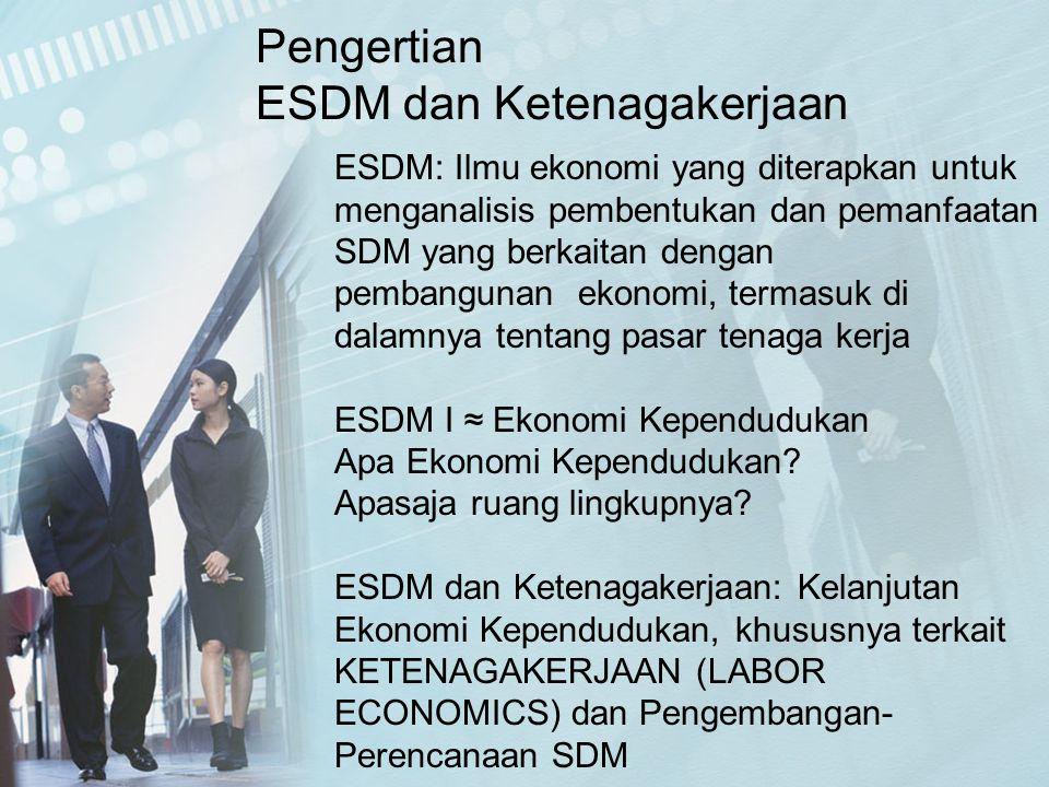 ESDM dan Ketenagakerjaan