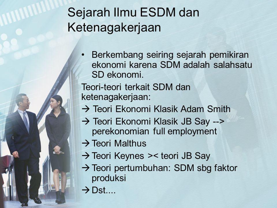 Sejarah Ilmu ESDM dan Ketenagakerjaan
