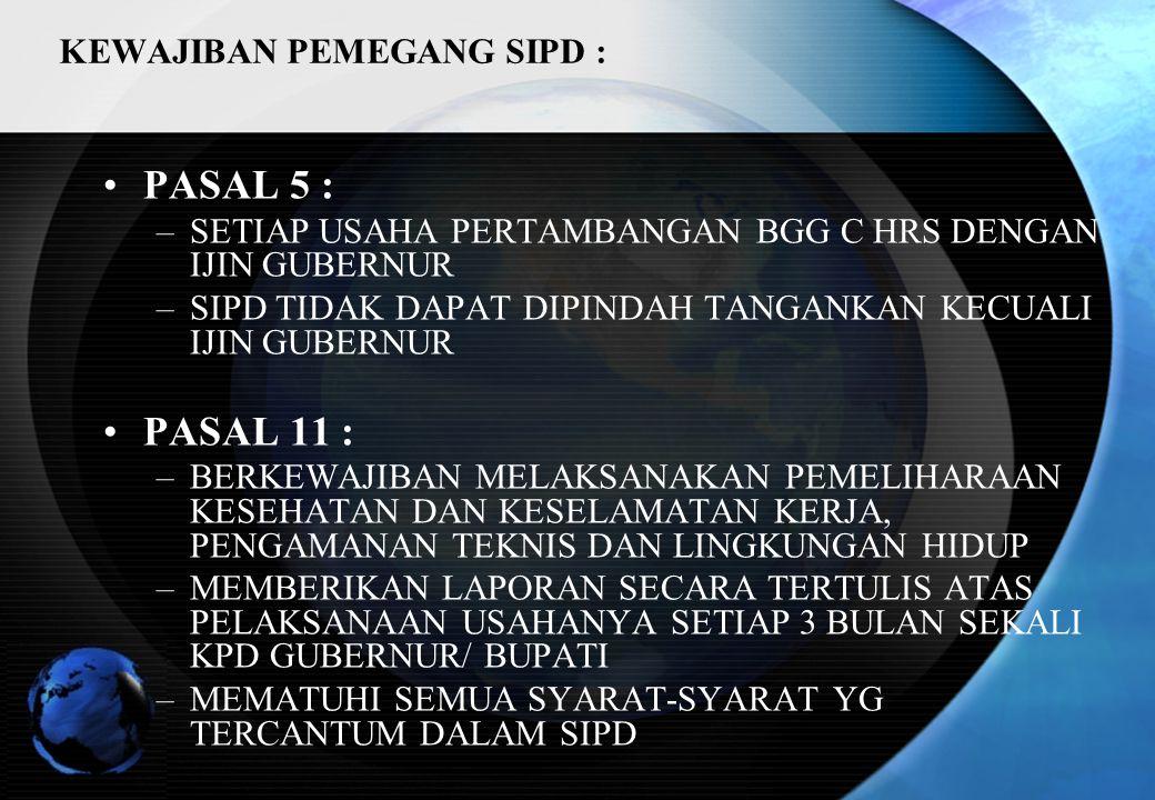 KEWAJIBAN PEMEGANG SIPD :