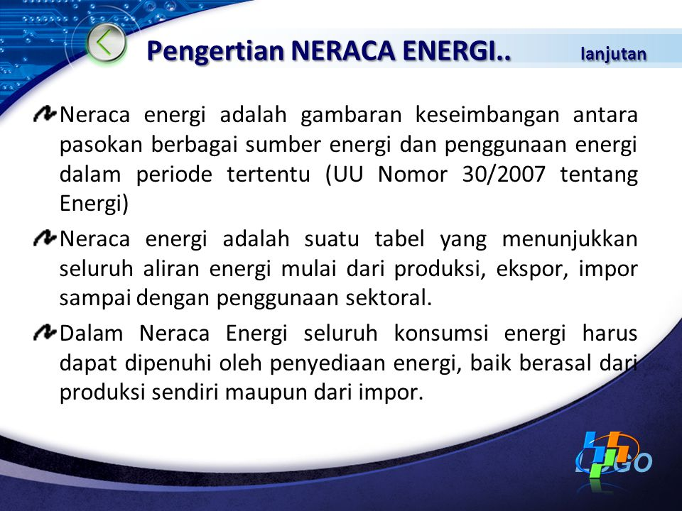 Pengertian NERACA ENERGI.. lanjutan