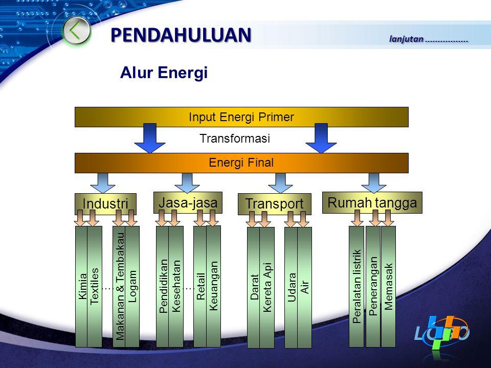 PENDAHULUAN lanjutan ................. Alur Energi Industri Jasa-jasa