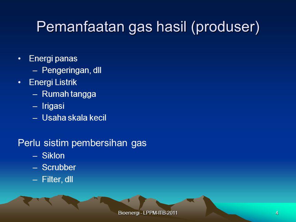 Pemanfaatan gas hasil (produser)