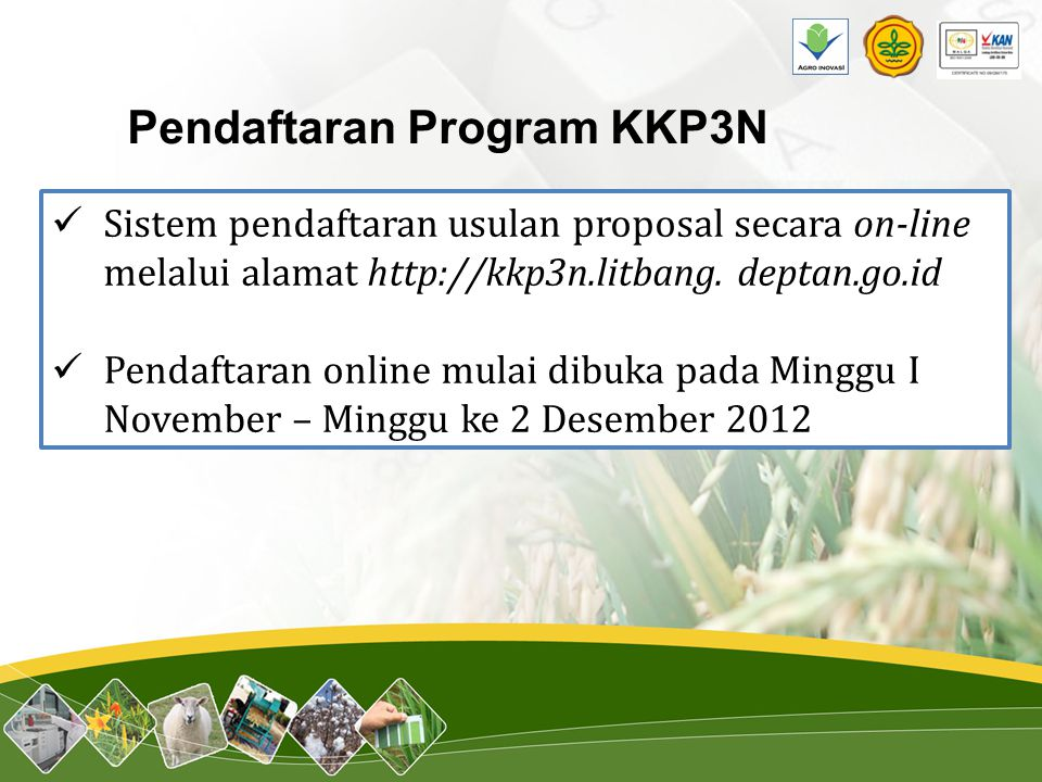 Pendaftaran Program KKP3N