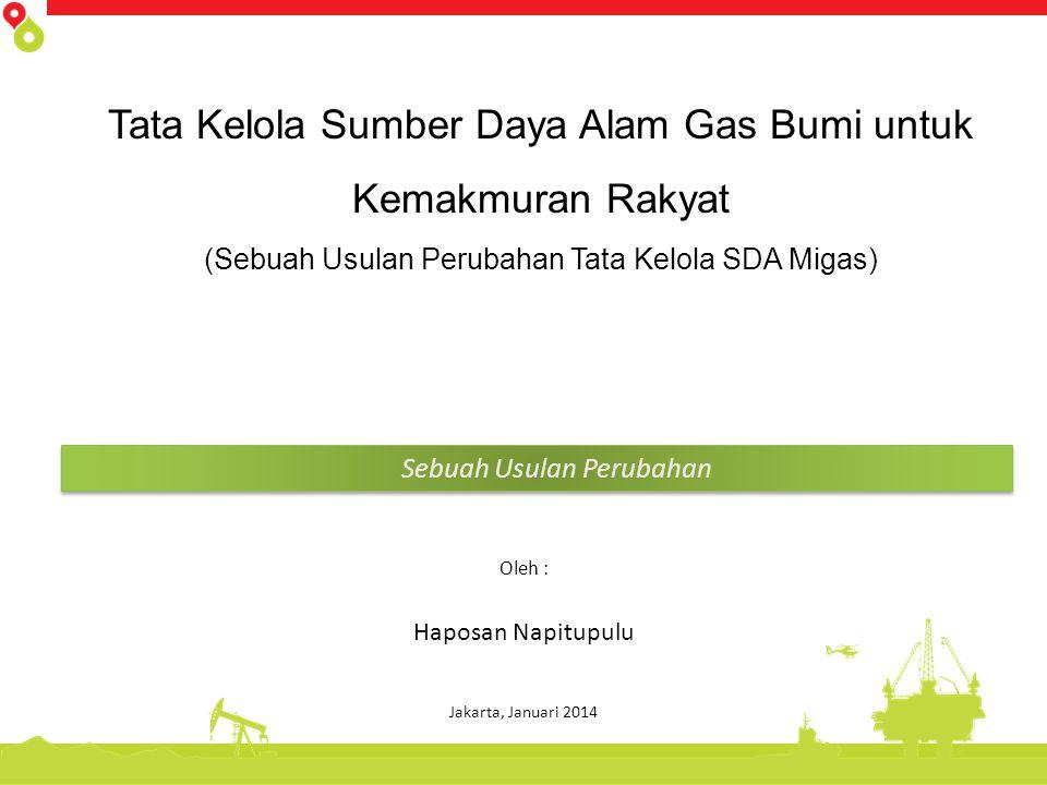 Tata Kelola Sumber Daya Alam Gas Bumi untuk Kemakmuran Rakyat