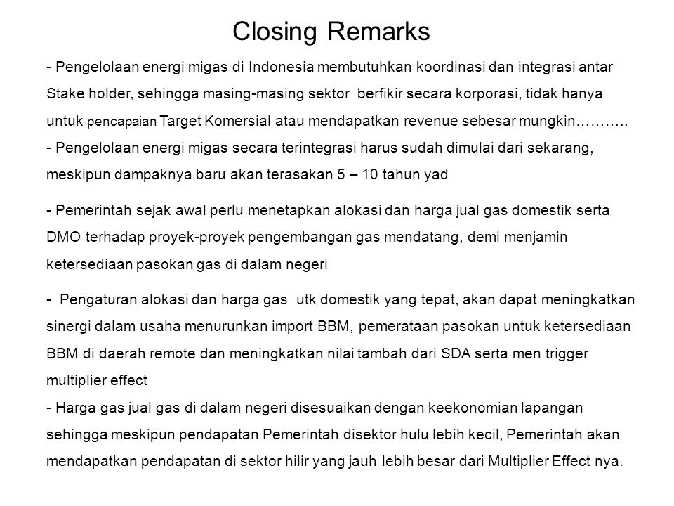 Closing Remarks